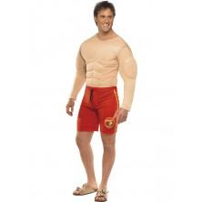 Kostým Baywatch Lifeguard svalovec
