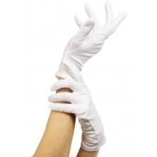 Látkové rukavice bílé krátké