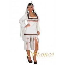 Kostým Bílá indiánka s čelenkou