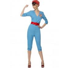 Kostým Retro zaměstnankyně továrny