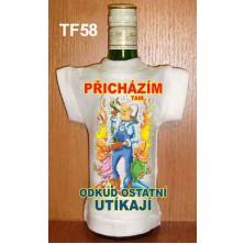 Tričko na flašku Přicházím tam odkud ostatní ...