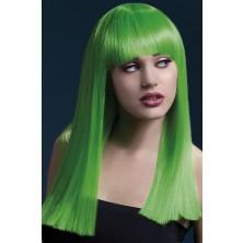 Paruka Alexia neonová zelená