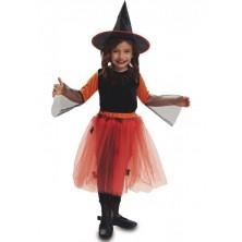 Dětský kostým oranžová Čarodějnice