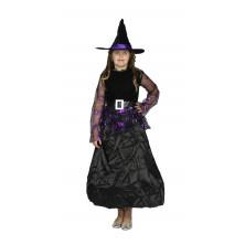 Dětský kostým fialová Čarodějnice