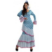 Kostým Tanečnice flamenga modrá