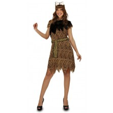 dámský kostým ve stylu pravěk