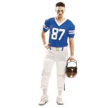 Kostým Hráč ragby modrý