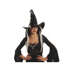 Klobouk Čarodějnice černý, lesklý