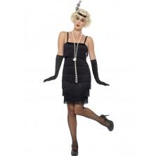 Kostým Flapper krátké šaty černé ve stylu charleston