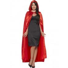 Plášť s kapucí červený I