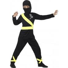 Dětský kostým Ninja černo-žlutý