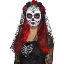 Maska Lebka se závojem Day of the dead