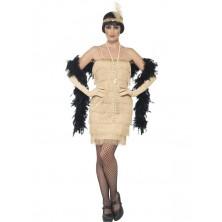 Kostým Charleston - zlaté šaty Charleston