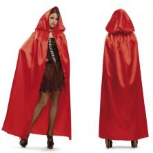 Plášť s kapucí červený III