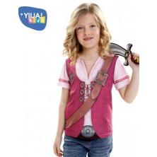 Dětské tričko 3D Pirátka