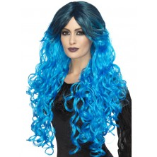Dámská paruka Gothic glamour modrá