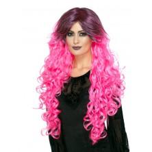 Dámská paruka Gothic glamour růžová