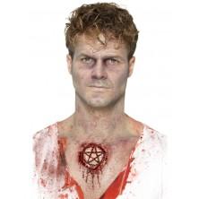 Zranění latexové, pentagram