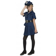 Dětský kostým Policistka s čepicí