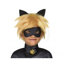 Paruka a maska Černý kocour dětská