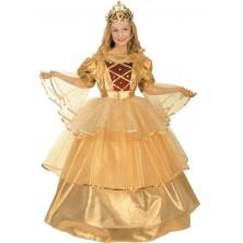 Dětský kostým Zlatá princezna